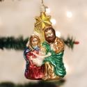 Kerstbal Heilige Familie met Ster