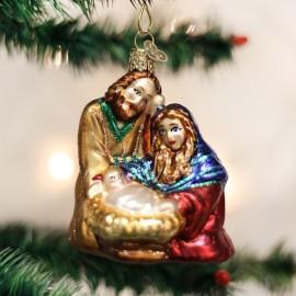 Kerstbal Jozef Maria en Jesus