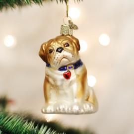 Kerstbal Buldog Pup