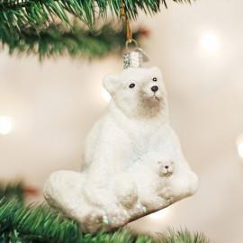 Kerstbal Ijsbeer met Kind