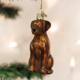 Kerstbal Labrador Bruin
