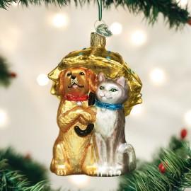Kerstbal Het regent Honden en Katten