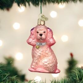 Kerstbal Roze Poedel