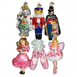 Luxe Set van 6 Ornamenten de Notenkraker Suite