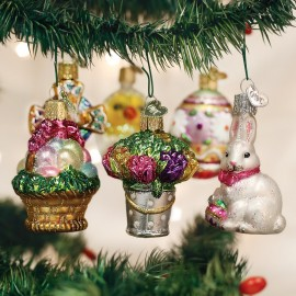 Set van 6  Mini Ornamenten Pasen