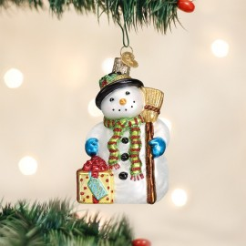 Kerstbal Blije Sneeuwpop