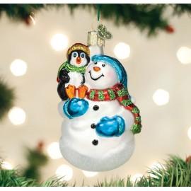 Kerstbal Sneeuwpop en Pinguin