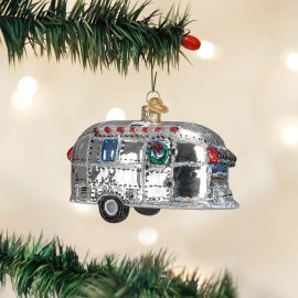 Kerstbal Retro Caravan Bullet