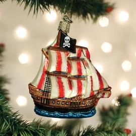 Kerstbal Piratenschip