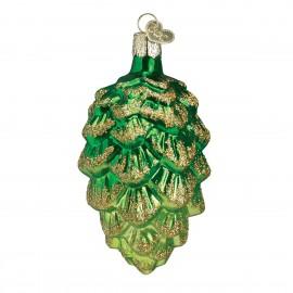 Kerstbal Dennenappel groen