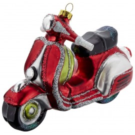 Kerstbal Scooter Rood