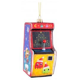 Kerstbal Speelautomaat Pac Man