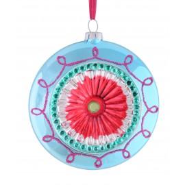 Kerstbal Disc blauw