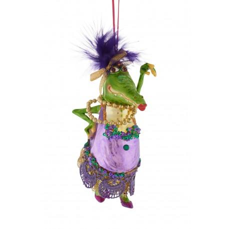 Kerstbal Mevrouw Krokodil