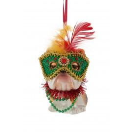 Kerstbal Bulldog met Masker