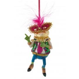 Kerstbal Dansende Kikker met Masker