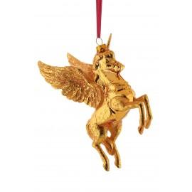 Kerstbal Eenhoorn goud