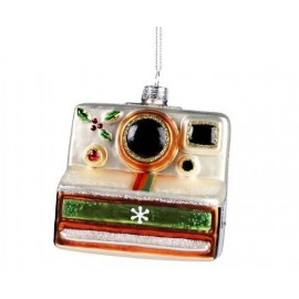 Kerstbal Polaroid Camera
