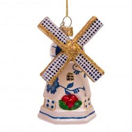 Kerstbal Delfts Blauwe Windmolen