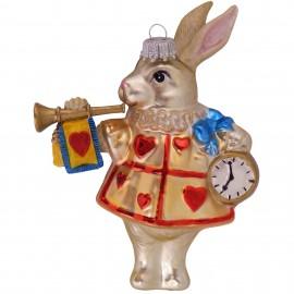 Kerstbal Konijn Alice in Wonderland