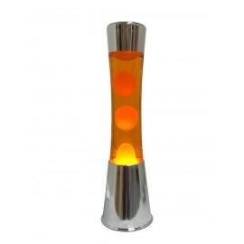 Lavalamp Oranje-Oranje Chroom