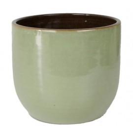 Bloempot Suka olijf groen H26