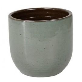 Bloempot Suka grijs blauw H14