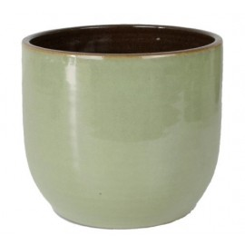 Bloempot Suka olijf groen H14