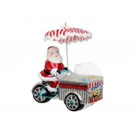 Kerstbal Kerstman met ijskar