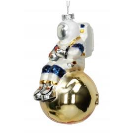 Kerstbal Astronaut op planeet goud