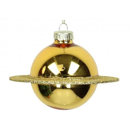 Kerstbal Planeet Goud