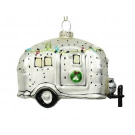 Kerstbal Caravan Wit