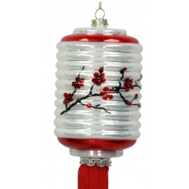 Kerstbal Chinese Lampion Cilinder