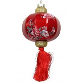 Kerstbal Chinese Lantaarn met Kleine Bloemen