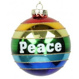Kerstbal Regenboogbal Peace