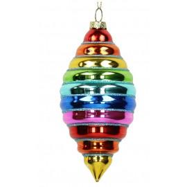 Kerstbal Regenboog Pegel