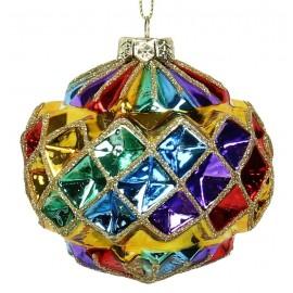 Kerstbal Regenboog Diamant