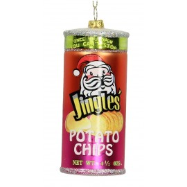 Kerstbal Chips in koker