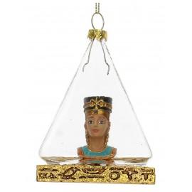 Kerstbal Nefetiti in Pyramide