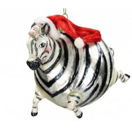 Kerstbal Ballon Zebra