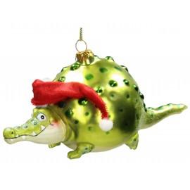 Kerstbal Ballon Krokodil