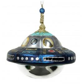 Kerstbal Ufo Blauw