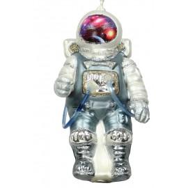Kerstbal Astronaut grijs