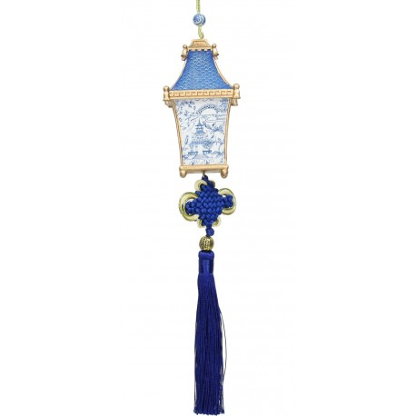 Kerstbal Chinese Lampion Blauw