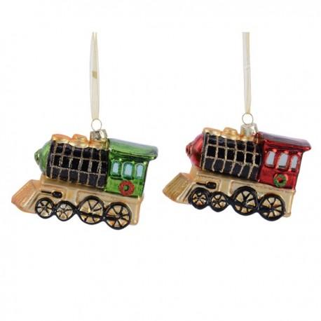 Set van 2 Kerstballen Locomotief