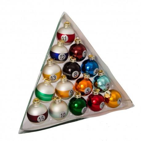 Set van 15 Kerst Pool Ballen