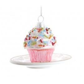 Kerstbal Cupcake op Schotel