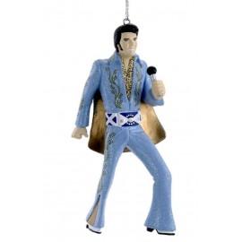 Kerstbal Elvis Presley Blauw Pak