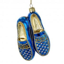 Kerstbal Elvis Presley Blue Suede Shoes