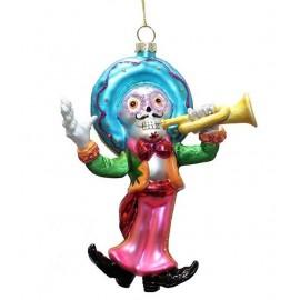 Kerstbal Day of the Dead Muziekant Trompet